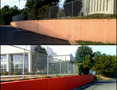 Retaining Wall Before & After